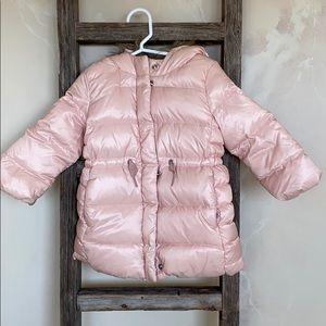 Pink(w a sheen) puff coat
